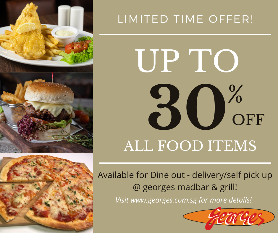 up to 30% off food