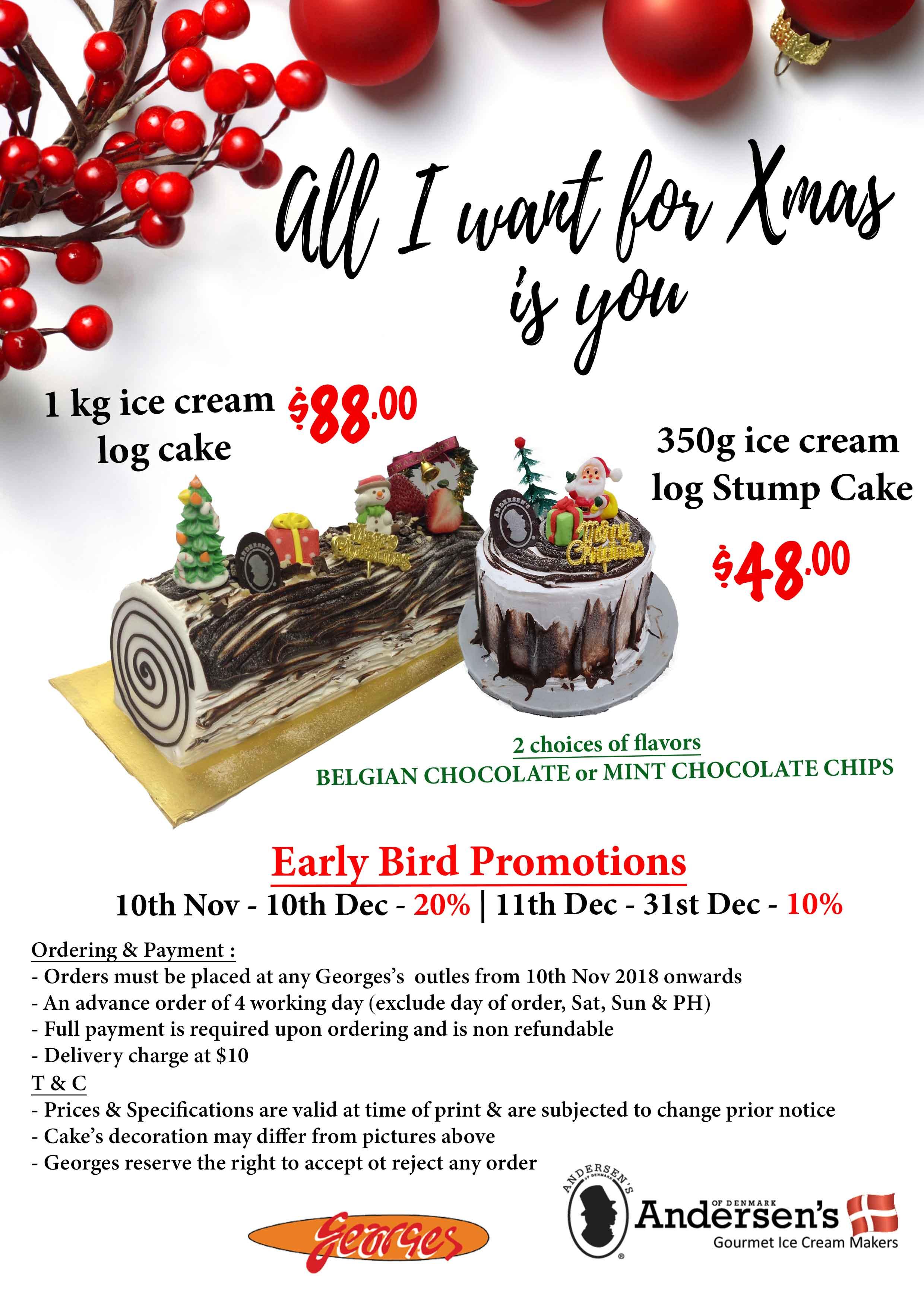 Xmas Log Cake Promo